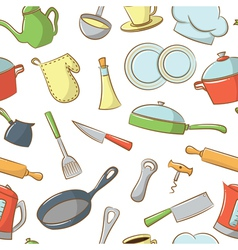 Kitchenware pattern vector