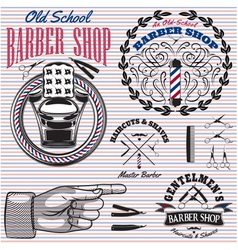 Set of icons on a theme barber shop vector