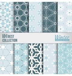 Winter backdrops collection vector