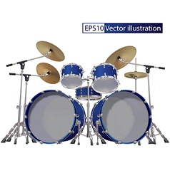 Drum kit isolated on a white background vector