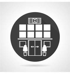Hospital black round icon vector