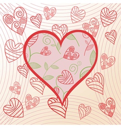Romantick background hearts vector