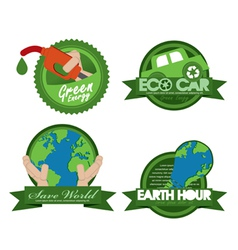 Ecology badge template eps10 vector