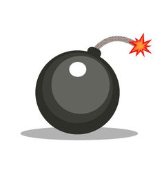 Isolated cartoon cannonball bomb vector