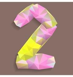 Geometric crystal digit 2 vector