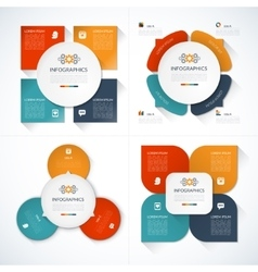 Set of modern minimal infographic design templates vector