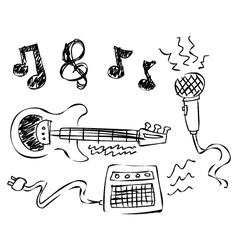 Doodle music vector