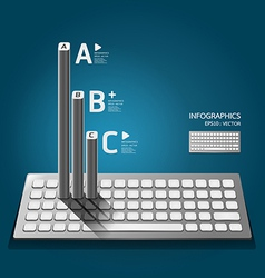 Modern keyboard infographics education vector