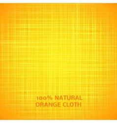 Orange cloth texture background vector