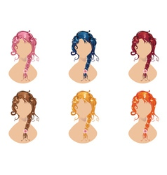 Braided hair style vector