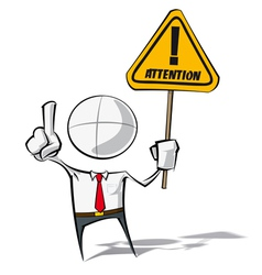 Simple business people attention vector