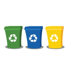 Recycling bins vector