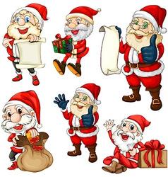 Santa set vector