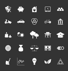 Sufficient economy icons on gray background vector