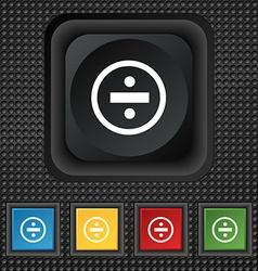 Dividing icon sign symbol squared colourful vector