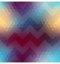 Textured chevron pattern on blurred background vector