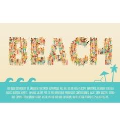 Summer beach concept vector