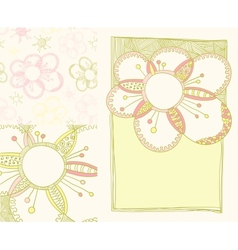 Set of spring backgrounds vector