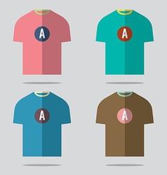 Flat design t-shirt set vector