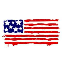 Abstract grunge flag of usa vector