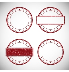 Set of red grunge rubber stamp vector