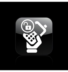 Isolated phone lock icon vector