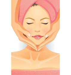 Facial spa vector