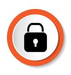 Lock icon vector
