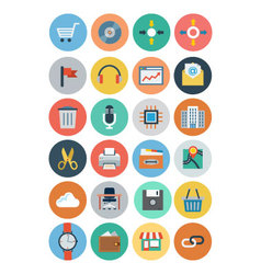 Office flat icons 4 vector