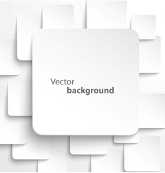 Paper square banner with drop shadows vector