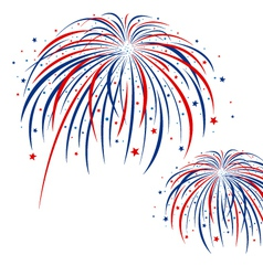 Firework design on white background vector