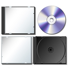 Cd case set with cd vector