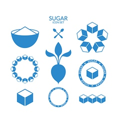 Sugar icon set vector