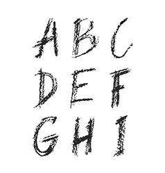Charcoal font vector