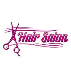 Hair salon design - haircut or hair salon symbol vector