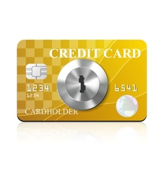 Credit card with keyhole vector