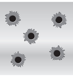 Set of bullet holes vector