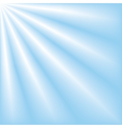 Blue sky with ray of lights vector
