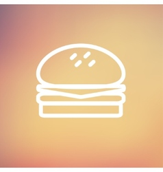 Hamburger thin line icon vector