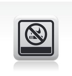 Not smoke icon vector