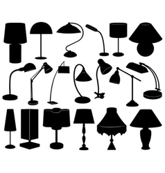 Lamp set vector