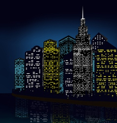 Night city vector