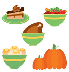 Thanksgiving dinner vector