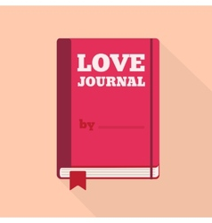 Flat style icon with long shadow a love journal vector