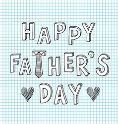 Happy father day doodle sketch vector
