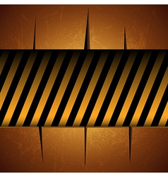 Textured template with warning stripes vector