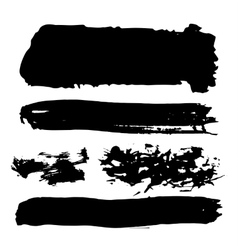 Black ink brush strokes vector