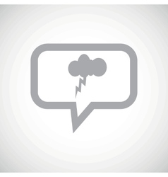 Thunderstorm grey message icon vector