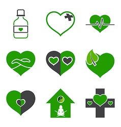 Health care and ecology symbols vector