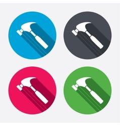 Hammer sign icon repair service symbol vector